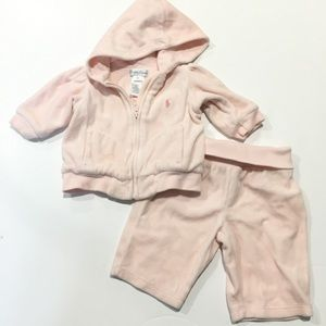 Ralph Lauren Velour Sweatsuit Sz 3 months